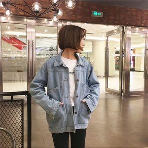 Demin vintage light washed jean jacket